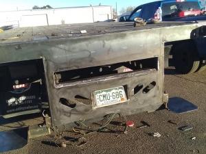 Rebuilt and Reinforced the Rear End of a Flatbed Trailer to Transport a Donkey Forklift in Denver, CO